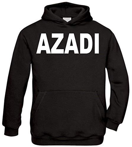 Ya Hero Ya Mero AZADI Classic Hoodie Kurdistan Kapuzenpullover Pullover (Schwarz, S)