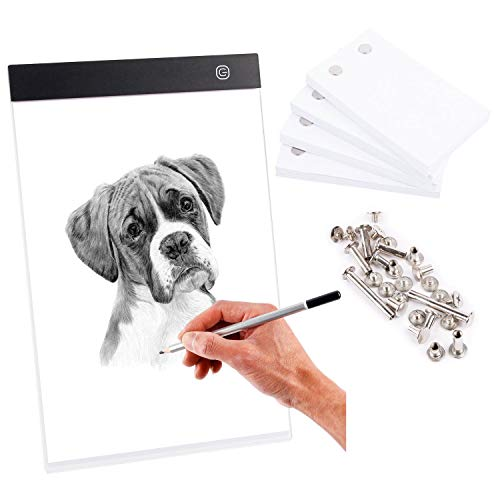 Dorhui Flip Book Kit - LED Lightbox for Drawing and Tracing & 240 Sheets Animation Paper for Kids A5 Flipbook Kit,Led Light Box USB Powered Projector Kit for Drawing, Sketching Supplies/Comic Book Kit