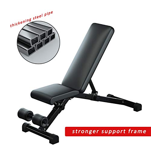 Product Image 2: Urchin Adjustable Strength Training Bench for Full Body Multi-Functional Workout Exercise Dumbbell Bench Press Work Out GYM Weight Entryway Bench (Large)
