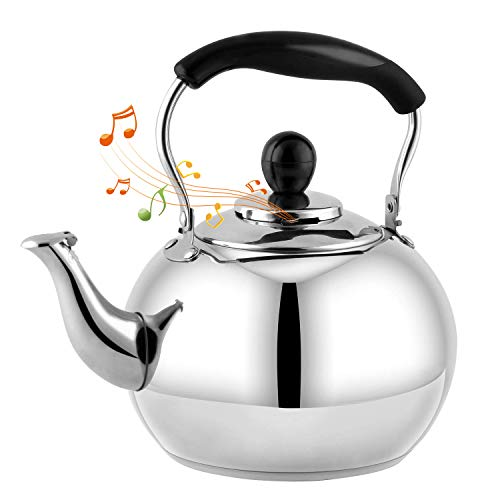 DclobTop Stove Top Whistling Tea Kettle 2.5 Quart Classic teapot appearance Culinary Grade Stainless...