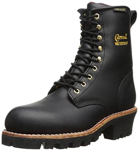 "Chippewa Women's 8"" Waterproof Insulated Steel Toe EH L73050 Logger Boot,Black,7 M US"