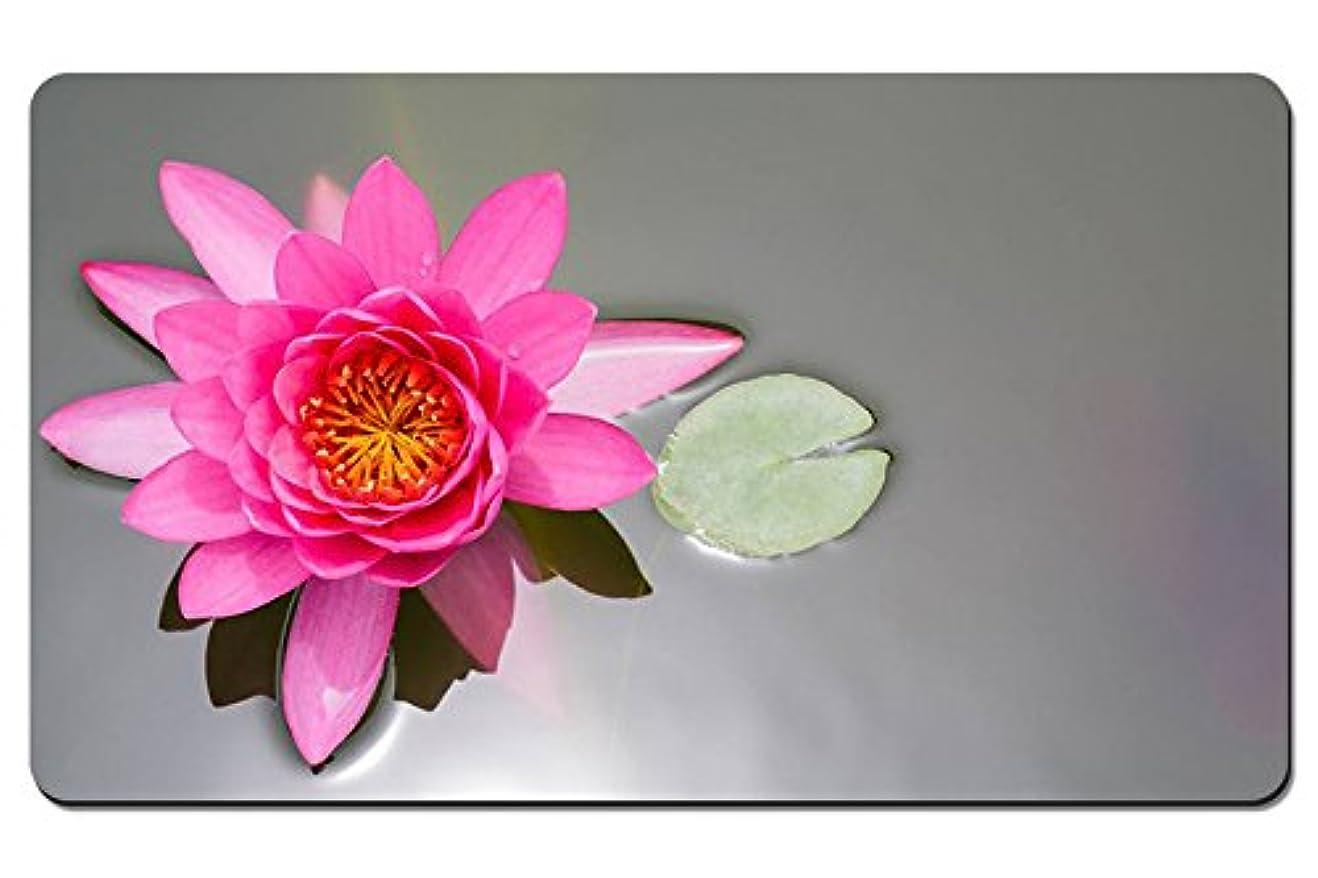 不条理巻き取り話ピンクの花、ハス、池、睡蓮、葉 パターンカスタムの マウスパッド 植物?花 デスクマット 大 (60cmx35cm)