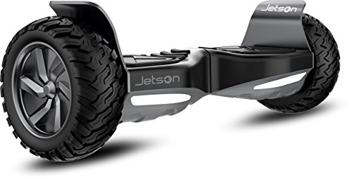 Jetson V8 All Terrain Black Electric Hoverboard - Self Balancing Makes it Great for Standard or Off Road Riding - Includes Bluetooth Speaker Built in
