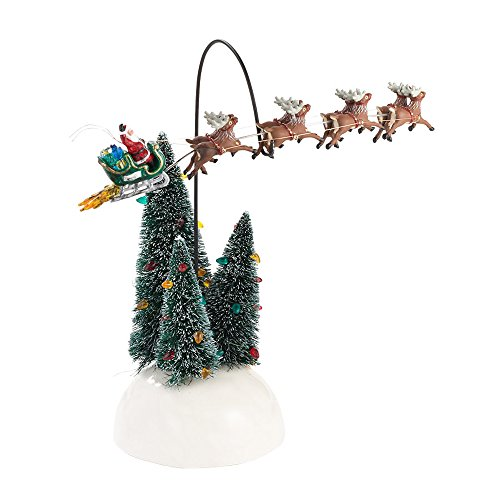 Department 56 National Lampoons Christmas Vacation Village Animated Flaming Sleigh Accessory Figurine