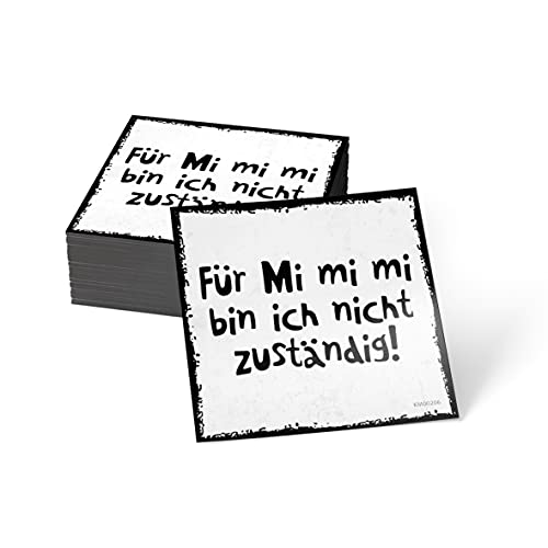how about tee? Magnet-Sticker: Für Mi Mi Mi Bin ich Nicht zus. - Kühlschrankmagnet mit Spruch