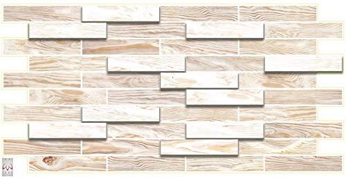 4,7qm/10 Stück 3D PVC FLIESEN Wandpaneele Wandverkleidung PVC-Verkleidung BLEACHED OAK Holzimitat