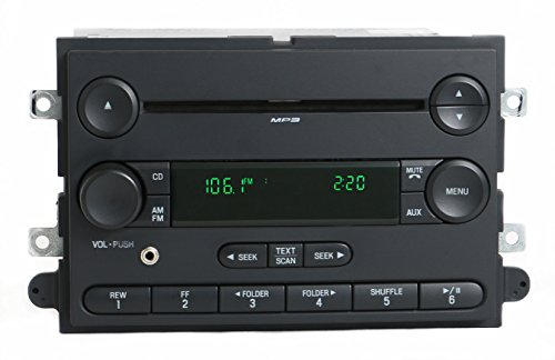 1 Factory Radio AM FM CD Player with Aux Input Compatible With 2006 Ford Fusion 6E5T-18C869-BG