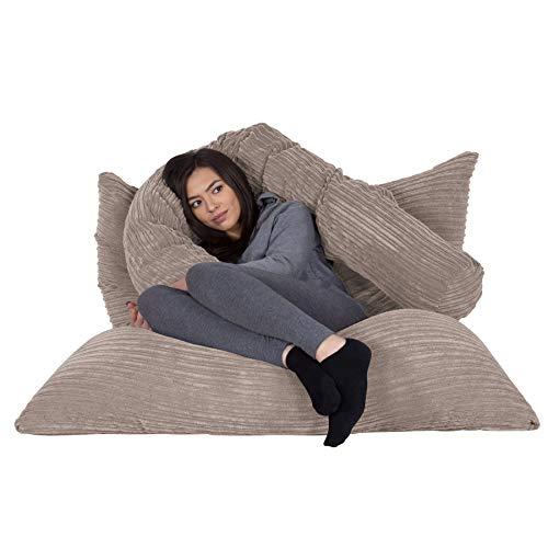 Lounge Pug®, Riesen Sitzsack XXL, Sitzkissen, Cord Nerzfarben