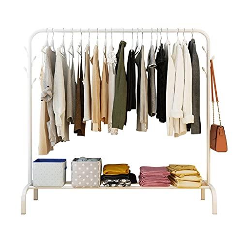 BIAOYU Perchero de metal para abrigos independiente, para guardar ropa, ahorra espacio, creativo, fácil de montar, moderno soporte para decoración del hogar (color: blanco)