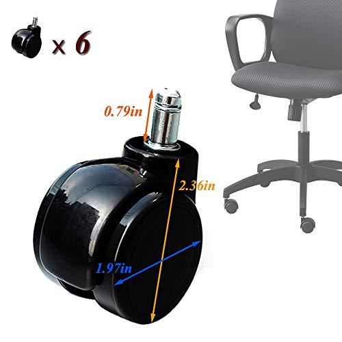 XYNH Rodamientos para Sillas - Ruedas De Repuesto para Silla De Oficina - Silencioso Rolling No Marca El Suelo - para Muebles Ruedas Giratorias