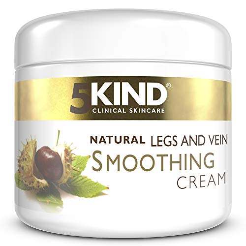 Varicose Vein Tired Legs- Soothing and Smoothing Natural Cream by 5kind- Spider Veins- 200ml