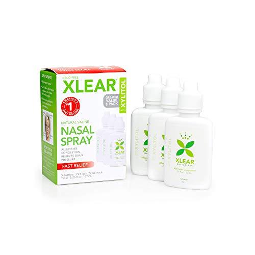 Xlear Sinus Care Nasal Spray - .75 fl oz 3 Count - 1 Box -FFP