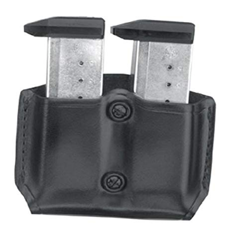 Gould & Goodrich B831-1 Gold Line Double Magazine Case (Black) Fits BERETTA 83, 85, 87; KAHR Micro MK9, Elite MK9,MK40, E9,K9,P9, K40,P40, Covert 40; SIG P230, P232; WALTHER PP, PPK, PPK/S, PPK/E.