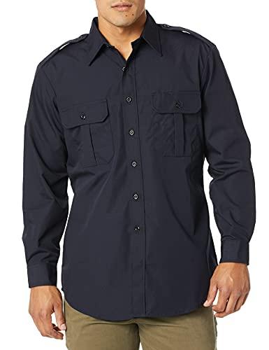 Propper T-Shirt Tactique à Manches Longues pour Homme - Bleu Marine Police, Taille L