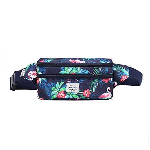 521s Small Fanny Pack Fashion Waist Bag Cute for Women, Flamingoes