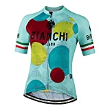 Bianchi Milano Damen Ancipa Fahrradtrikot, kurzärmelig, Celeste, Größe M