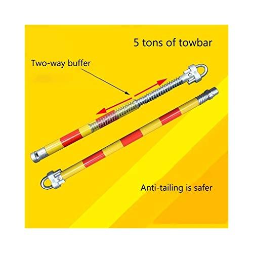 NICOLAS Anhängerkupplung 5 Tonnen Abschleppseil PKW-Anhänger Mit Vollstahl-Anhängerschleppseil (Color : Mechanical Hook)