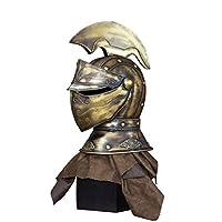ローマの彫像、ギリシャの彫刻スパルタ戦士錬鉄製の卓上レトロな装飾