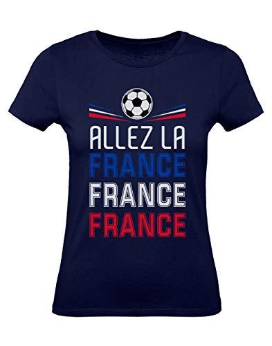Green Turtle T-Shirts Camiseta para Mujer - Apoya la Selección de Francia en el Mundial de Rusia 2018! Medium Azul Oscuro