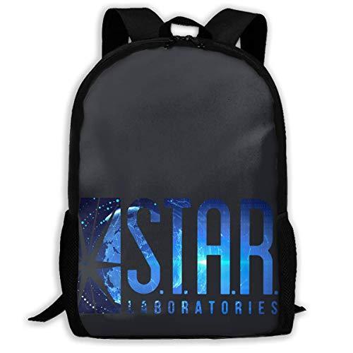 S.T.A.R. Labs Comic Hero Star Printed School Backpack Water Resistant Travel Rucksack Bag Laptop Lightweight Backpack Daypack,17