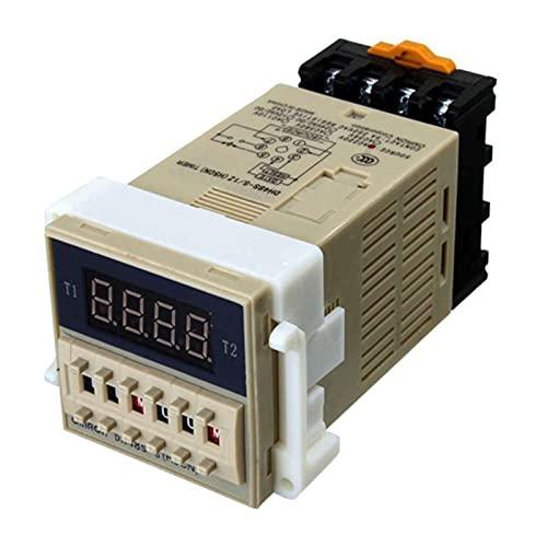 AC 220V 5A Doble tiempo programable Temporizador de tiempo de retraso Herramienta de dispositivo DH48S-S (Size : 11 x 5.5 x 5cm)