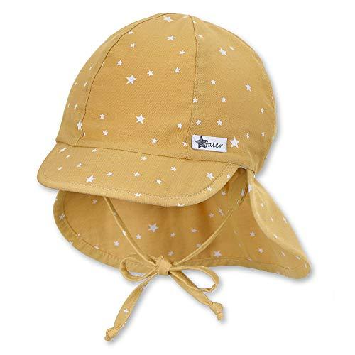 Sterntaler Unisex Baby Schirmmátze M. Nackenschutz 1512130 Winter Hut, gelb, 45 EU