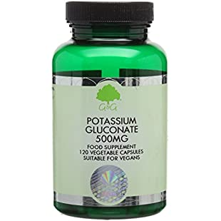 G&G Vitamins 500 mg Potassium Gluconate Capsules:Dailyvideo
