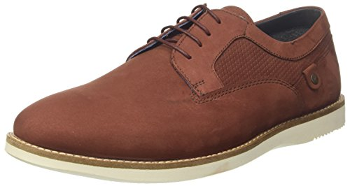 Red Tape Herren Holker Derbys Schnürhalbschuhe , Red (Oxblood), 43 EU (9 UK)
