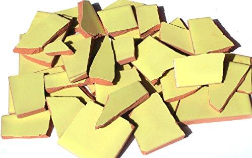 900g Bruchmosaik, Mosaikfliesen aus handgefertigten Fliesen - gelb