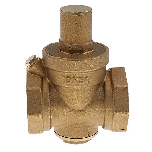 Tubayia Messing DN50 2-Zoll Wasserdruckregel Wasserregler Ventil Kugelventil Kugelhahn