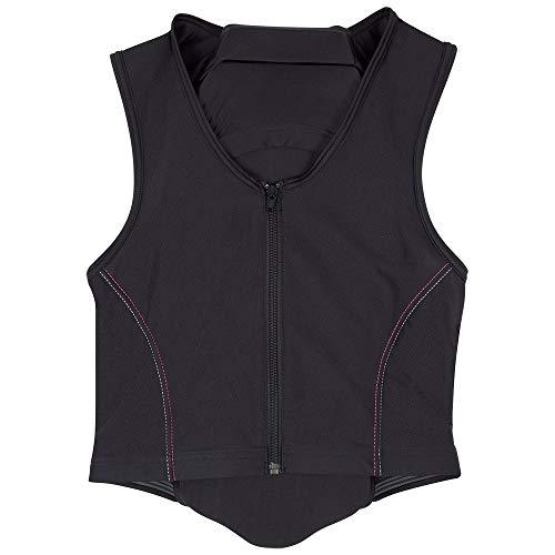 PFIFF 102842 'Schutzengel' - Protector de espalda para niños, talla S, color negro y rosa