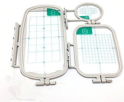 YEQIN - Juego de 3 aros de coser para máquina de bordar Brother