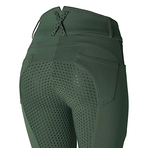 Product Image 5: HORZE Limited Edition Womens Eva Full Seat High Waist Breeches – Cilantro Green – 32