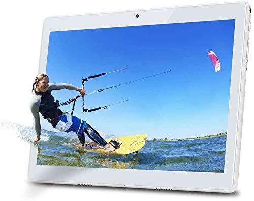 Deca core Tablet 10 Pollici Android 10 OS,4G LTE Dual SIM,4 GB di RAM, 64 GB di spazio di archiviazione,WiFi/WLAN/Bluetooth/GPS TYD-109 (Argento)