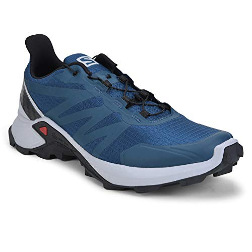 SALOMON L40930300 Synthetic Supercross Men's Trail Running Shoe, 8 UK, (Blue)