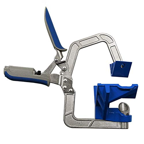 ouying1418 Auto-adjustable 90 Degree Corner Right Angle Woodworking Clamp Clip Fit Tool