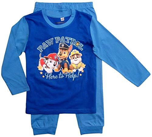 Paw Patrol - Helfer auf Vier Pfoten Langarmshirt Jungen (Blau, 92-98)
