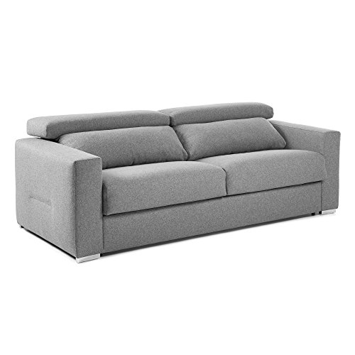Kave Home - Kant slaapbank 160 cm polyurethaan grijs