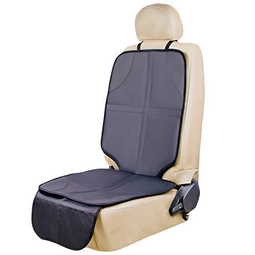 Bonio Kindersitzunterlage, ISOFIX geeignete Unterlagen für Kinderautositze (Schwarz grau)