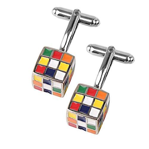Herren Magic Cube Form Manschettenknöpfe Weihnachten Geschenk
