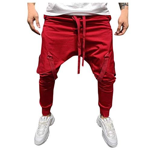 Pantalon De Loisir Sweat Pants avec Poches,Homme Pantalon Jogging Bas de Survêtement Sweat Pants Sarouel Sport Slim Fit Pantalons Casual Pantalons De Sport Jogging Running Pantalon DéContracté Mode