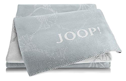 Joop!® Cornflower Double I flauschig-weiche Kuscheldecke in Taube-Silber I Wohndecke aus Baumwollmischgewebe in blau-grau | Tagesdecke 150x200cm | nachhaltig produziert in DE I Öko-Tex Standard 100