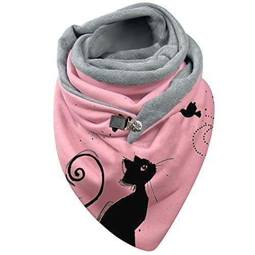 Bufanda de moda para mujer, de Halloween, Navidad, invierno, cálida, informal, para otoño, bufandas, manta ligera y acogedora, A28., M