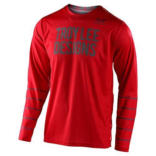 Troy Lee Designs GP Pinstripe Motocross Jersey Rot M