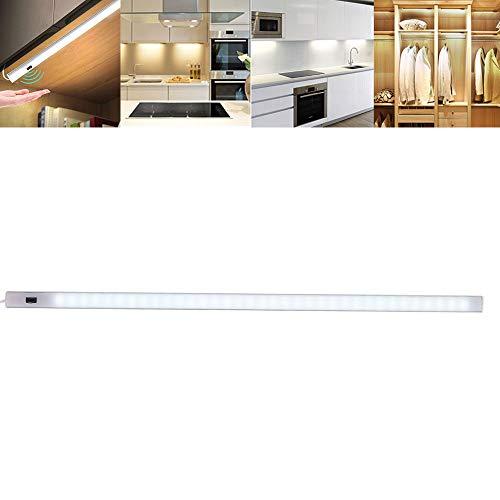 harupink Luces de 25 LEDs Armario con Sensor Movimiento, Iluminación LED Armario de Carga USB Iluminación del Armario con Tiras Adhesivas para Pared/Armario/ Escaleras/Cajón (30cm)