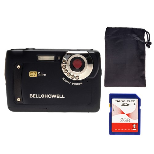Bell and Howell S7-B Night Vision Slim 12MP Digital Camera (Blue)