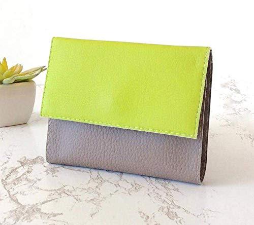 Brieftasche Grün Damen, Portemonnaie Damen Klein, Geldborse Handgemach, Wähle deine Farben