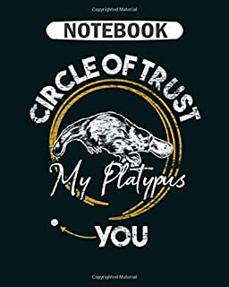 Notebook: platypus venn diagram  College Ruled - 50 sheets, 100 pages - 8 x 10 inches
