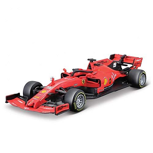 Ferrari SF90 Nr 5 Sebastian Vettel Temporada 2019 Mate Rojo 1/43 Bburago Modelo Coche