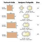 Vailge Tischdecke Rechteckige Tischtuch Leinendecke Leinen Tischdecke Abwaschbar, Tischdecken Wasserabweisend mit Quaste Edge Tischwäsche für Home Küche Dekoration (Grau, 140 x 180 cm) - 2